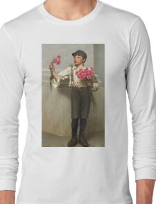 John George Brown - Three For Five 1890. Child portrait: cute baby, kid, children, pretty angel, child, kids, lovely family, boys and girls, boy and girl, mom mum mammy mam, childhood Long Sleeve T-Shirt