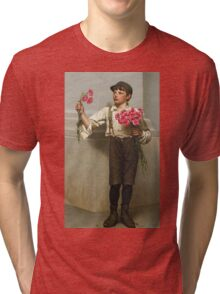 John George Brown - Three For Five 1890. Child portrait: cute baby, kid, children, pretty angel, child, kids, lovely family, boys and girls, boy and girl, mom mum mammy mam, childhood Tri-blend T-Shirt