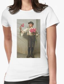 John George Brown - Three For Five 1890. Child portrait: cute baby, kid, children, pretty angel, child, kids, lovely family, boys and girls, boy and girl, mom mum mammy mam, childhood Womens Fitted T-Shirt