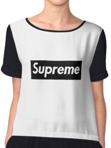 Supreme Black Box Logo Chiffon Top