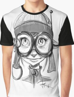 Steampunk Girl Elf Variant Graphic T-Shirt