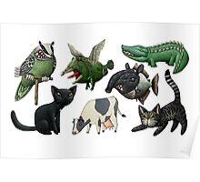 Cows, Crocs, Cats, Chimeras... Poster