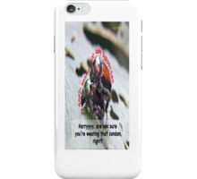 Ms. Bug doesn't want babies for a big surprise! iPhone Case/Skin