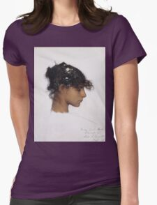 John Singer Sargent - Head Of A Capri Girl. Girl portrait: cute girl, girly, female, pretty angel, child, beautiful dress, face with hairs, smile, little, kids, baby Womens Fitted T-Shirt