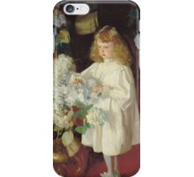 John Singer Sargent - Helen 1895. Child portrait: cute baby, kid, children, pretty angel, child, kids, lovely family, boys and girls, boy and girl, mom mum mammy mam, childhood iPhone Case/Skin