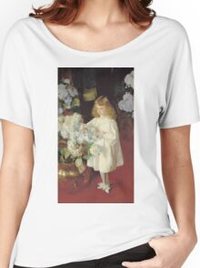 John Singer Sargent - Helen 1895. Child portrait: cute baby, kid, children, pretty angel, child, kids, lovely family, boys and girls, boy and girl, mom mum mammy mam, childhood Women's Relaxed Fit T-Shirt