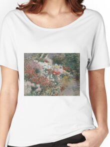 John Singer Sargent - In The Greenhouse 1888. Garden landscape: garden view, trees and flowers, blossom, nature, botanical park, floral flora, wonderful flowers, plants, cute plant, garden, flower Women's Relaxed Fit T-Shirt
