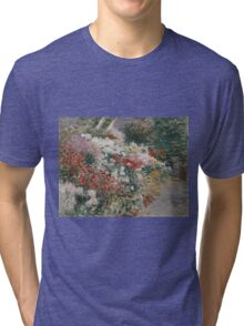 John Singer Sargent - In The Greenhouse 1888. Garden landscape: garden view, trees and flowers, blossom, nature, botanical park, floral flora, wonderful flowers, plants, cute plant, garden, flower Tri-blend T-Shirt