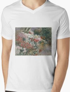 John Singer Sargent - In The Greenhouse 1888. Garden landscape: garden view, trees and flowers, blossom, nature, botanical park, floral flora, wonderful flowers, plants, cute plant, garden, flower Mens V-Neck T-Shirt