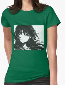 Anime Sketch Head Womens Fitted T-Shirt