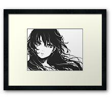 Anime Sketch Head Framed Print