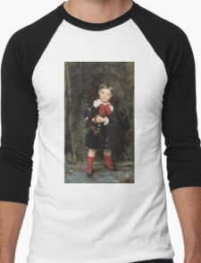 John Singer Sargent - Robert 1879. Child portrait: cute baby, kid, children, pretty angel, child, kids, lovely family, boys and girls, boy and girl, mom mum mammy mam, childhood Men's Baseball ¾ T-Shirt