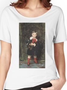 John Singer Sargent - Robert 1879. Child portrait: cute baby, kid, children, pretty angel, child, kids, lovely family, boys and girls, boy and girl, mom mum mammy mam, childhood Women's Relaxed Fit T-Shirt