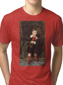 John Singer Sargent - Robert 1879. Child portrait: cute baby, kid, children, pretty angel, child, kids, lovely family, boys and girls, boy and girl, mom mum mammy mam, childhood Tri-blend T-Shirt