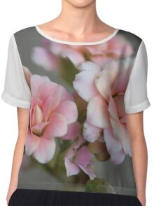 Tiny Peach Flowers Chiffon Top