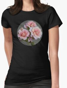 Tiny Peach Flowers Womens Fitted T-Shirt