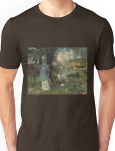 John Singer Sargent - The Sketchers 1913. Garden landscape: garden view, trees and flowers, blossom, nature, botanical park, floral flora, wonderful flowers, plants, cute plant, garden, flower Unisex T-Shirt