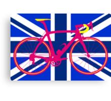 Bike Flag United Kingdom (Blue) (Big - Highlight) Canvas Print