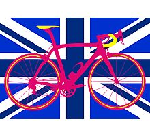 Bike Flag United Kingdom (Blue) (Big - Highlight) Photographic Print