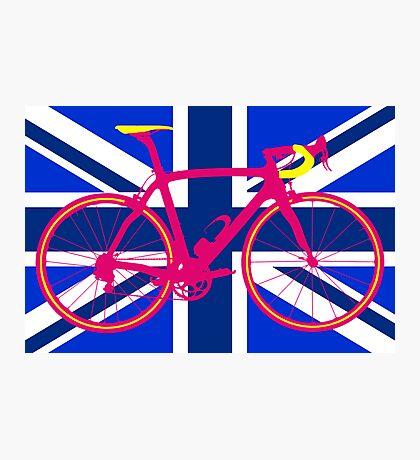 Bike Flag United Kingdom (Blue) (Big - Highlight) Photographic Print