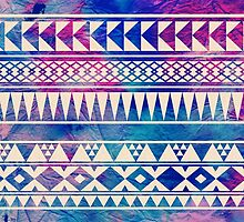 Colorful Urban Tribal Abstract Geometric Pattern by hyakume
