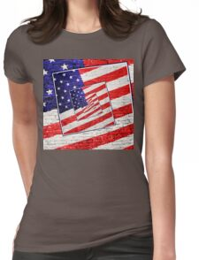 Patriotic American Flag Abstract Womens Fitted T-Shirt