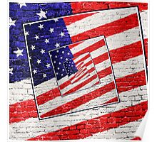 Patriotic American Flag Abstract Poster