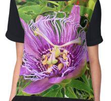 Purple Passion Flower Chiffon Top