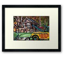 Grump's Garage II Framed Print
