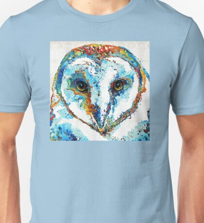 Colorful Barn Owl Art - Sharon Cummings Unisex T-Shirt