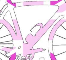 Bike Flag United Kingdom (Pink - Big) Sticker