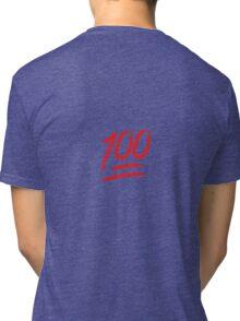 Keep It 100 Emoji. Straight Fire. Funny Emoji Leggings Tshirt. iDubbbz TV. Tri-blend T-Shirt