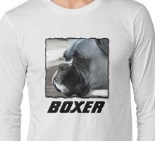 Black and white boxer headshot Long Sleeve T-Shirt