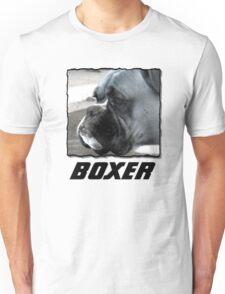 Black and white boxer headshot Unisex T-Shirt