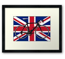 Bike Flag United Kingdom (Big - Highlight) Framed Print