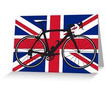Bike Flag United Kingdom (Big - Highlight) Greeting Card