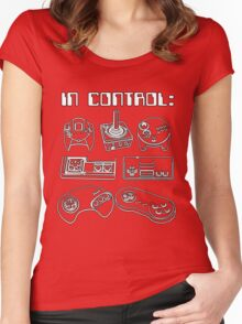 Retro Gamer - In Control Women's Fitted Scoop T-Shirt