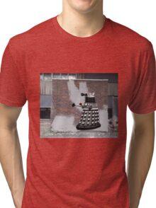Dalek Graffiti - Banksy Style Tri-blend T-Shirt