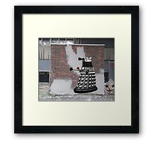 Dalek Graffiti - Banksy Style Framed Print