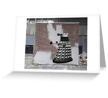 Dalek Graffiti - Banksy Style Greeting Card