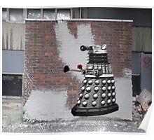 Dalek Graffiti - Banksy Style Poster