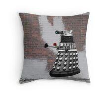 Dalek Graffiti - Banksy Style Throw Pillow