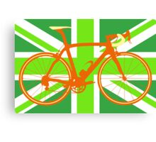 Bike Flag United Kingdom (Green) (Big - Highlight) Canvas Print