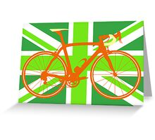 Bike Flag United Kingdom (Green) (Big - Highlight) Greeting Card