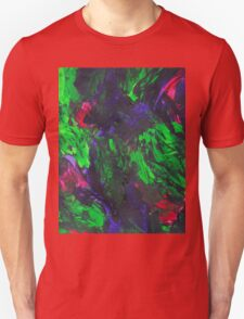Vibrant Abstract Swatch Painting Unisex T-Shirt