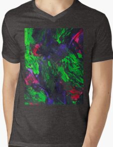 Vibrant Abstract Swatch Painting Mens V-Neck T-Shirt