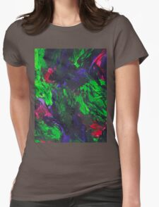 Vibrant Abstract Swatch Painting Womens Fitted T-Shirt