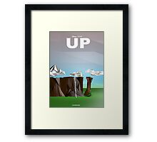 Up- Movie } Low Poly Framed Print