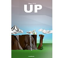 Up- Movie } Low Poly Photographic Print