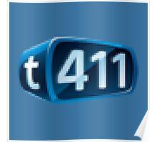 t411 Logo Pixel Poster